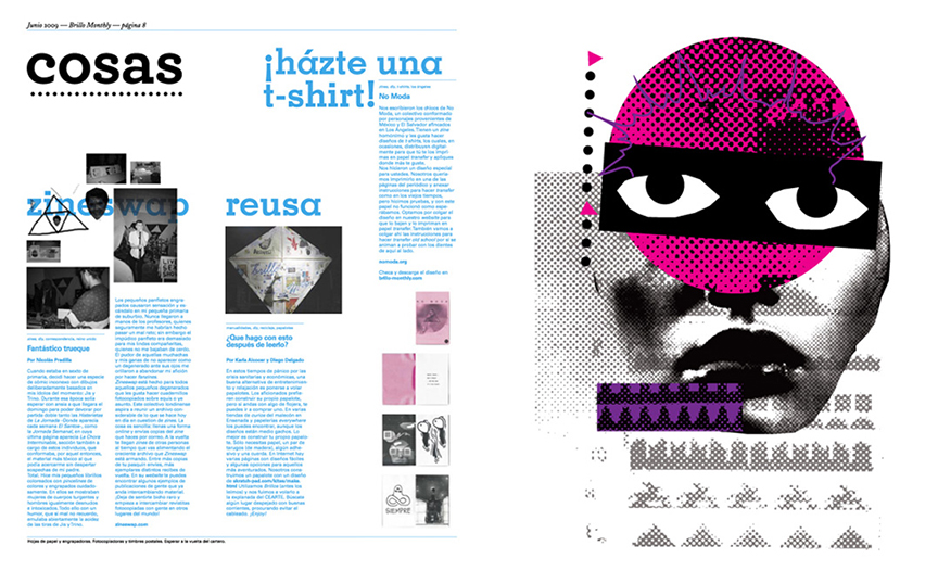 Tribu - Iron-on graphic for Brillo Monthly Magazine