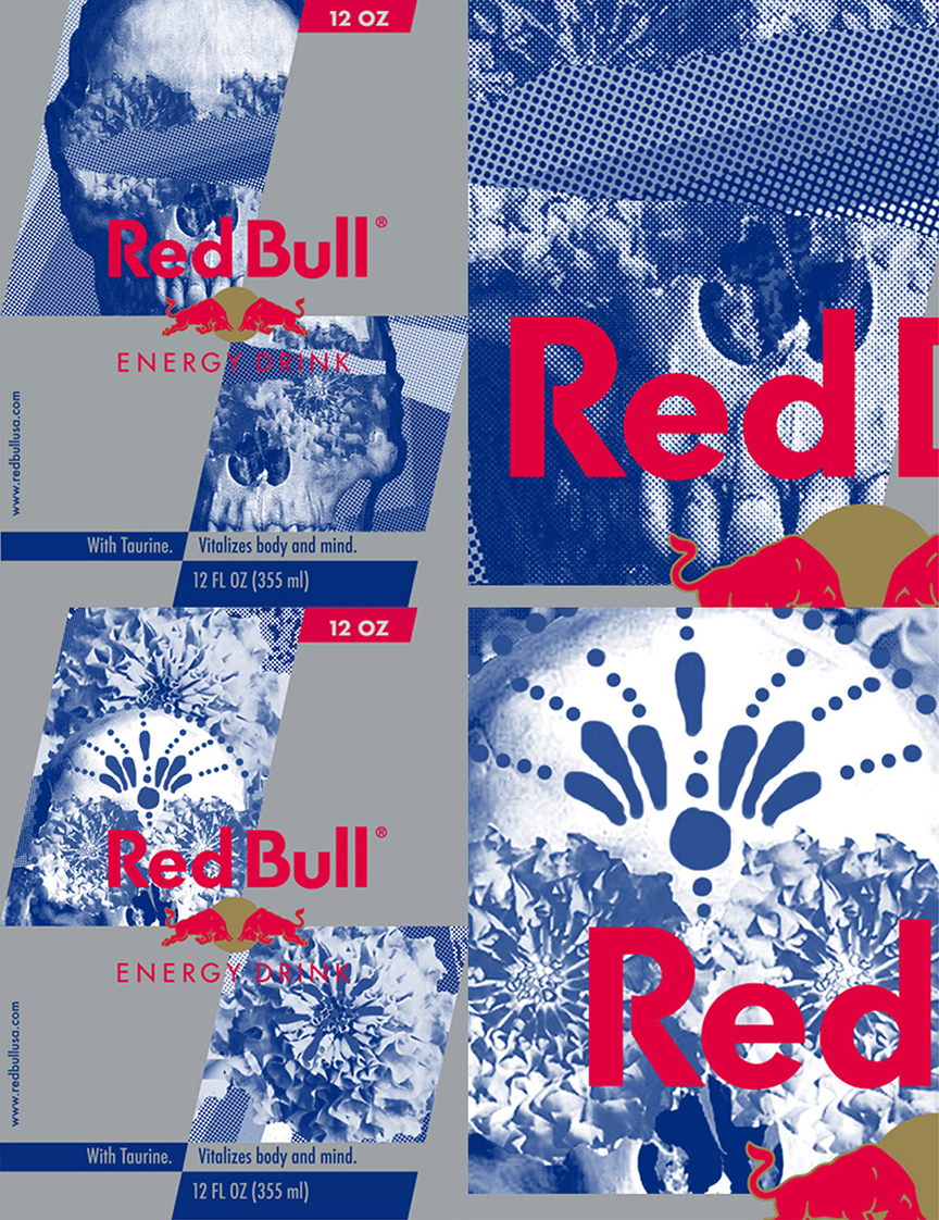 Red Bull dia de los Muertos - Proposal for limited edition can for Red Bull
